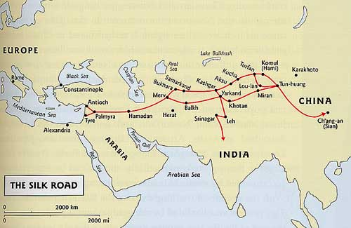 Silk Road Maps and City: city, en, gobi, history, maps, road, silk Chang An Map on